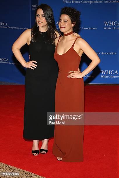 Comemdians Abbi Jacobson and Ilana Glazer attend the 102nd White House Correspondents' Association Dinner on April 30 2016 in Washington DC
