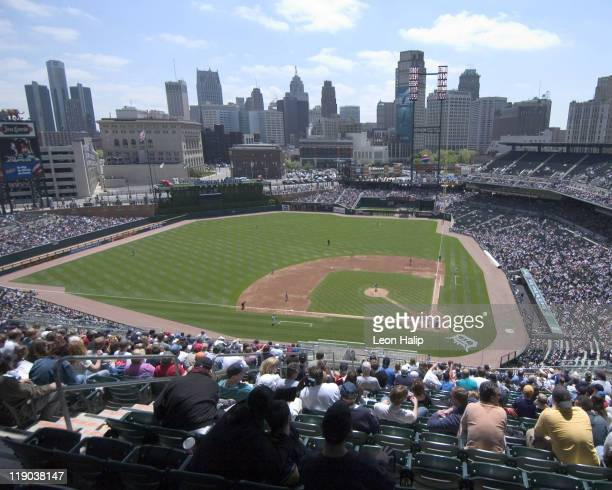 Comerica Park appears rooted at the center of an urban village a village that includes shops restaurants offices and other attractions Eight two and...