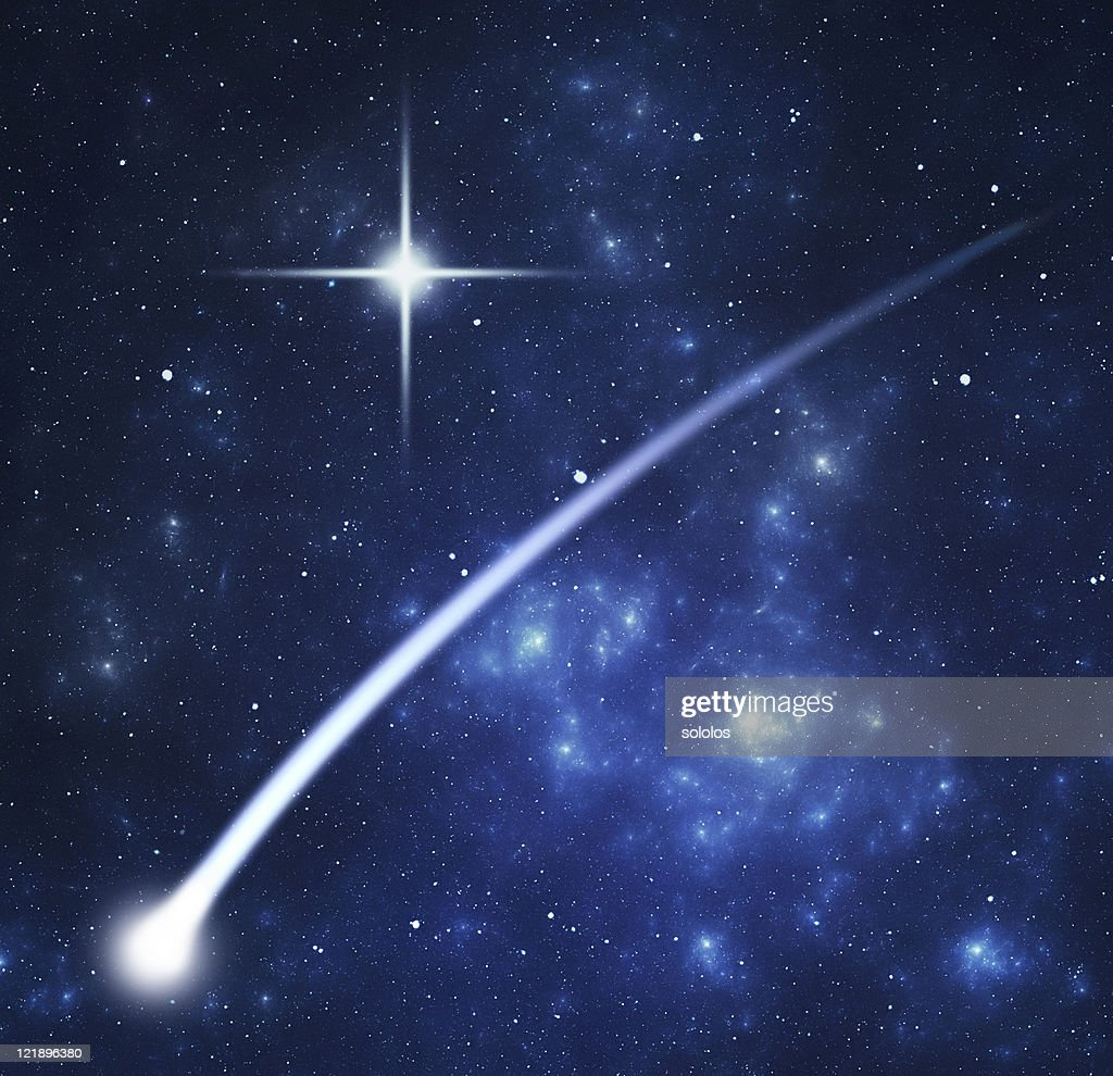Comet and nebula : Stock Photo