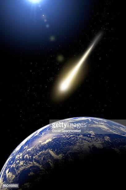Comet passes earth
