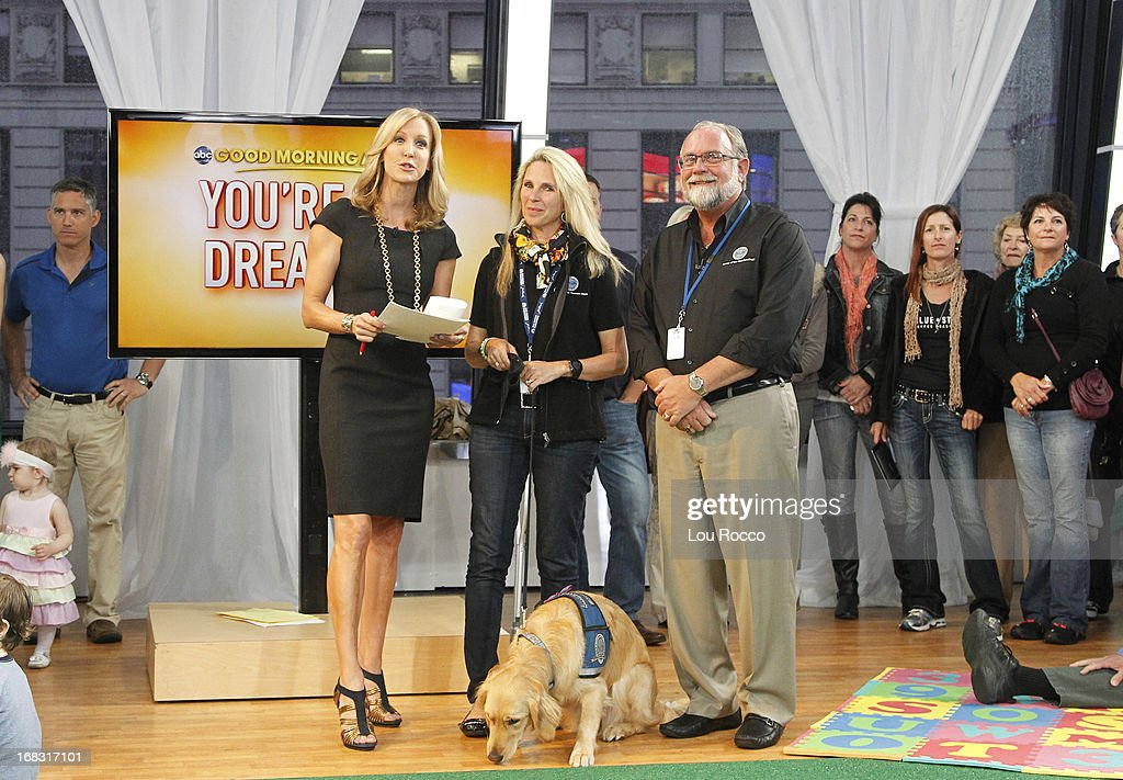 Comfort Dogs Surprised guests on 'Good Morning America,' 5/8/13, airing on the ABC Television Network. (Photo by Lou Rocco/ABC via Getty Images) LARA
