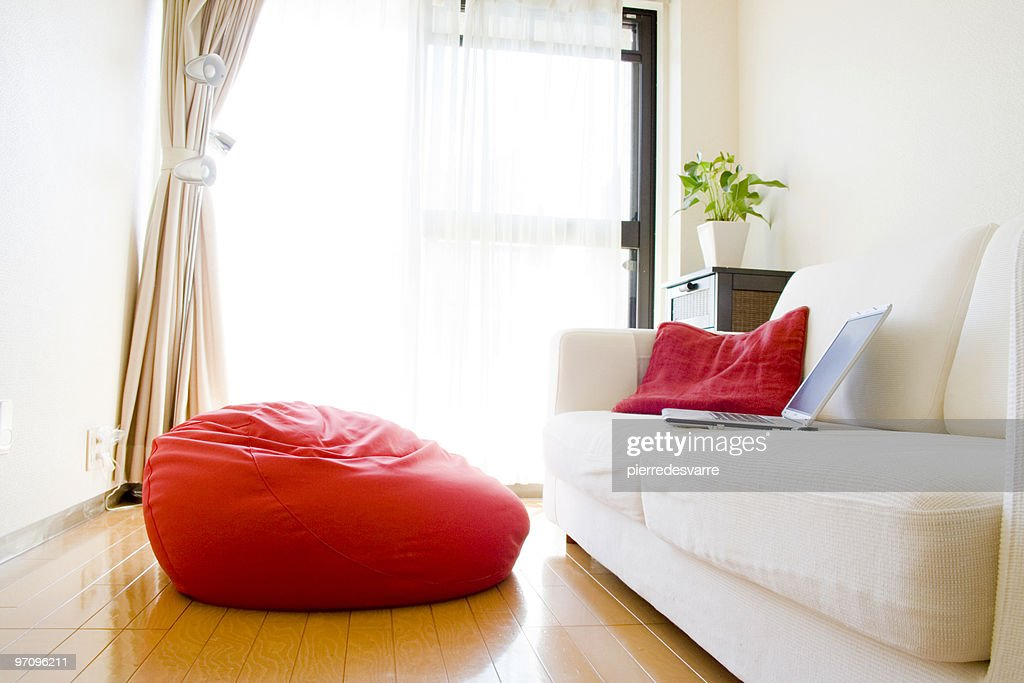 Comfortable Living Room. RF. Businesswoman Playing In Beanbag ... Part 74