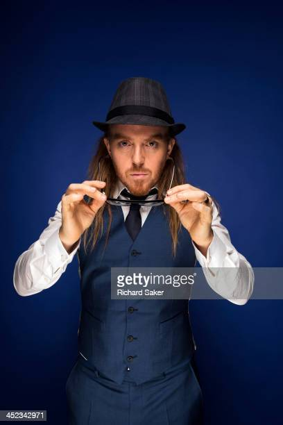 Comic and musician Tim Minchin is photographed for the Observer on September 17 2013 in London England