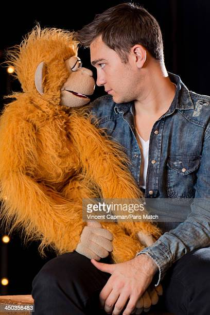 Comic and ventriloquist Jeff Panacloc is photographed for Paris Match on October 25 2013 in Paris France