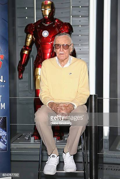 Comic book icon Stan Lee arrives at Marvel Avengers STATION at the Treasure Island Hotel Casino on November 18 2016 in Las Vegas Nevada
