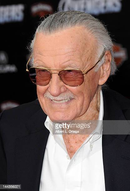 Comic Book Icon Stan Lee arrives for 'Marvel's The Avengers' Los Angeles Premiere held at the El Capitan Theatre on April 11 2012 in Hollywood...