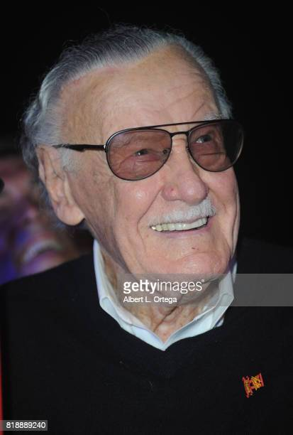 Comic Book Icon Stan Lee attends his 95th Birthday House Party held at Private Residence on July 18 2017 in Los Angeles California