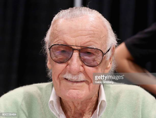 Comic book icon Stan Lee attends the Amazing Las Vegas Comic Con at the Las Vegas Convention Center on June 23 2017 in Las Vegas Nevada