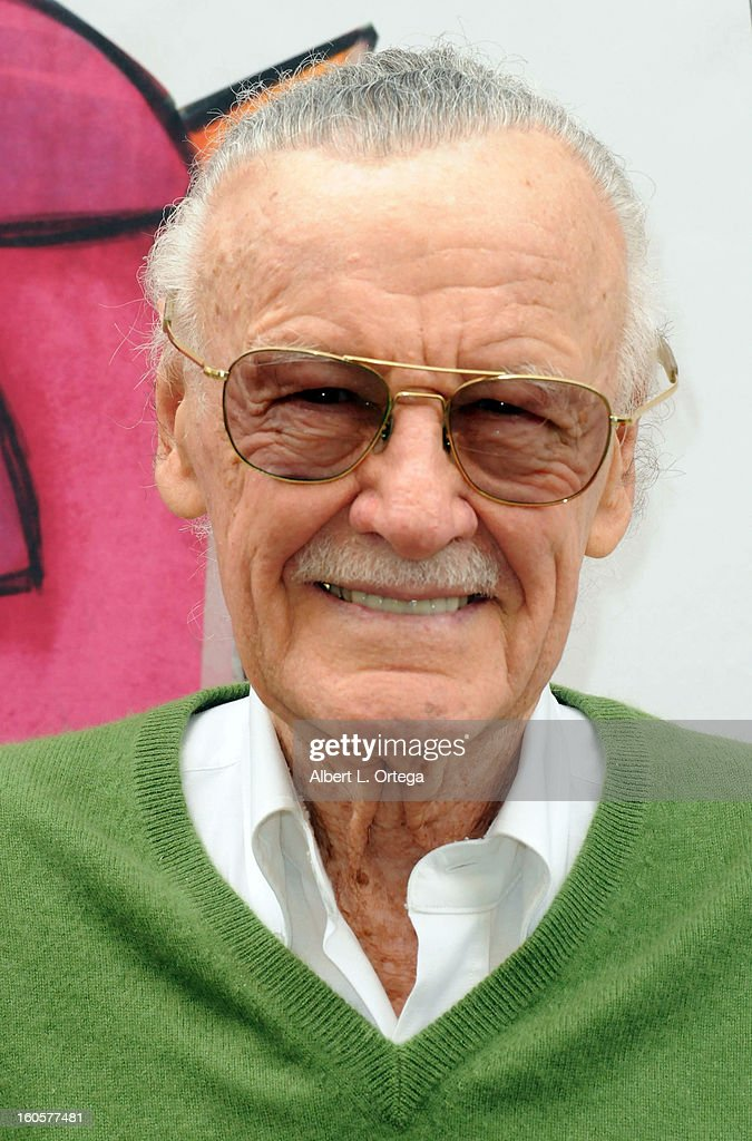 Comic Book Icon <a gi-track='captionPersonalityLinkClicked' href=/galleries/search?phrase=Stan+Lee&family=editorial&specificpeople=206380 ng-click='$event.stopPropagation()'>Stan Lee</a> attends the <a gi-track='captionPersonalityLinkClicked' href=/galleries/search?phrase=Stan+Lee&family=editorial&specificpeople=206380 ng-click='$event.stopPropagation()'>Stan Lee</a> Children Book Label 'Kids Universe Day' Unveiling held at Giggles 'N' Hugs on February 2, 2013 in Century City, California.