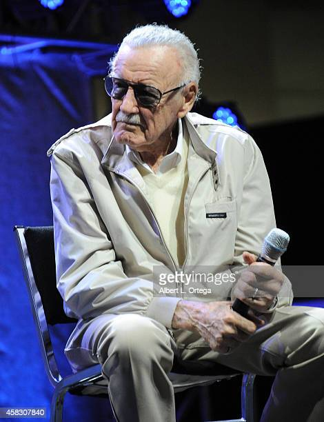 Comic Book Icon Stan Lee onstage on Day 3 of the Third Annual Stan Lee's Comikaze Expo held at Los Angeles Convention Center on November 2 2014 in...