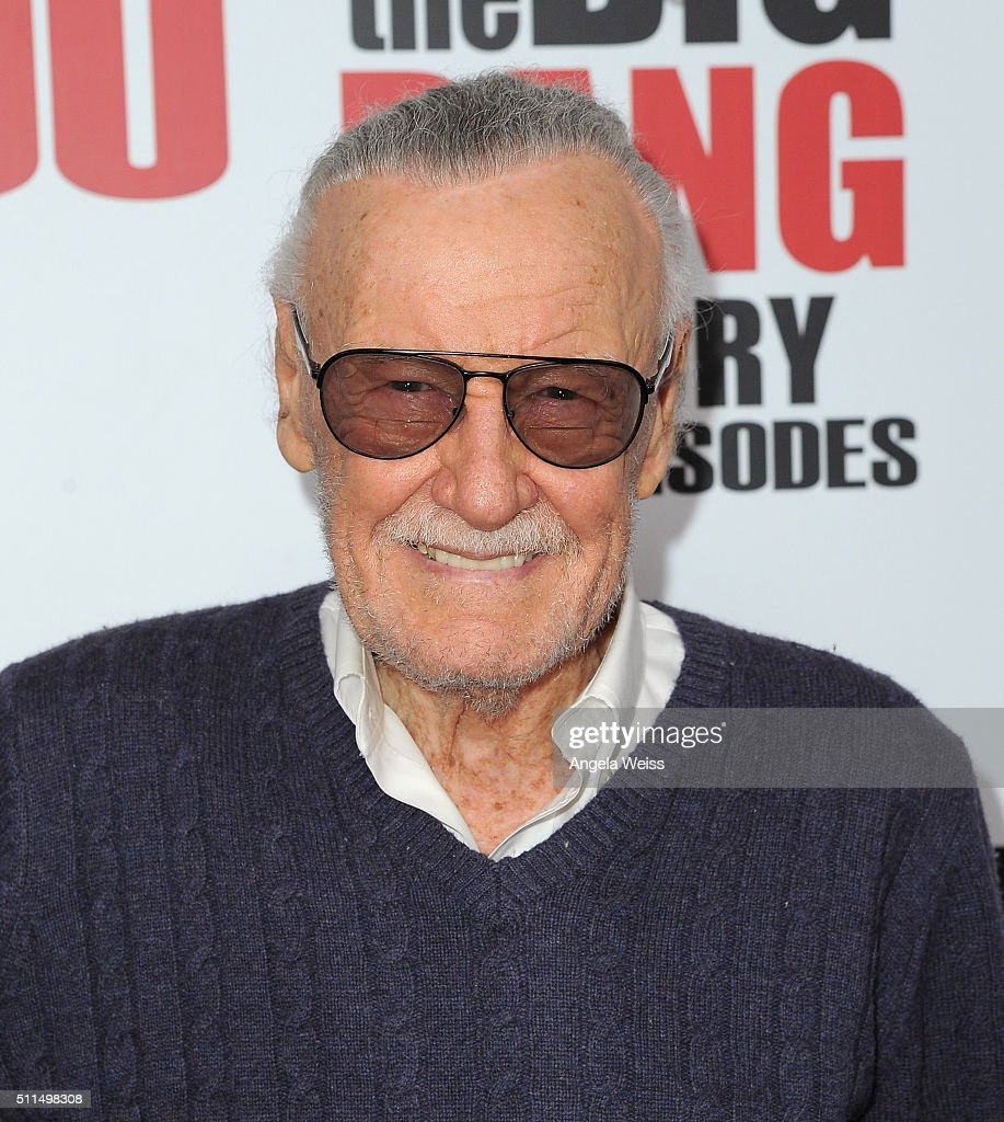 Comic Book Writer Stan Lee arrives at CBS's 'The Big Bang Theory' Celebrates 200th Episode at Vibiana on February 20 2016 in Los Angeles California