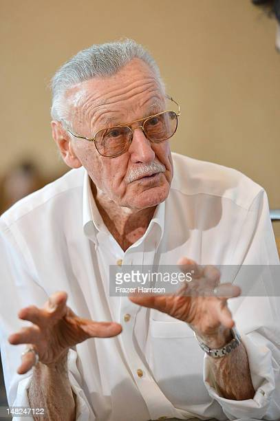 Comic book writer/actor/producer Stan Lee attends 'Stan Lee's World of Heroes' during ComicCon International 2012 held at the Hilton San Diego...