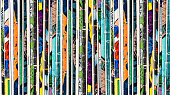 Stack of old vintage comic books background texture pattern