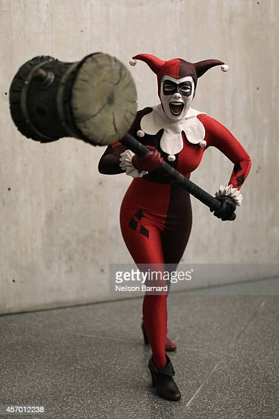 Comic Con attendee Alyssa King poses as Harley Quinn during the 2014 New York Comic Con at Jacob Javitz Center on October 10 2014 in New York City