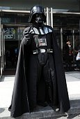 Comic Con attendee poses as Darth Vader during New York ComicCon 2015 at The Jacob K Javits Convention Center on October 9 2015 in New York City