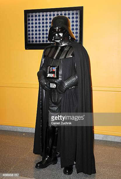 Comic Con attendee poses as Darth Vader during the 2014 New York Comic Con at Jacob Javitz Center on October 9 2014 in New York City