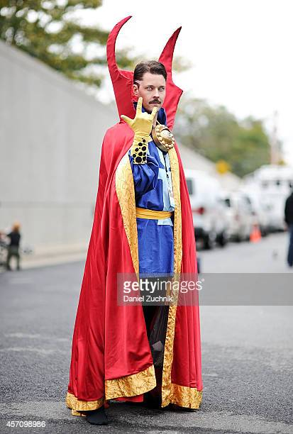 Comic Con attendee poses as Doctor Strange during the 2014 New York Comic Con at Jacob Javitz Center on October 11 2014 in New York City