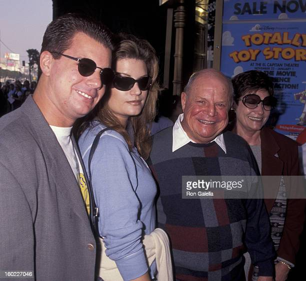 Comic Don Rickles and wife Barbara Sklar and family attend the premiere of 'Toy Story' on November 19 1995 at El Capitan Theater in Hollywood...