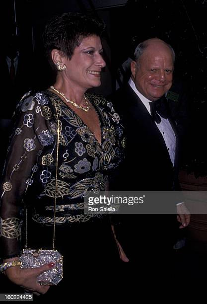 Comic Don Rickles and wife Barbara Sklar attend Princess Grace Foundation Gala Tribute to Cary Grant on October 19 1988 at the Beverly Hilton Hotel...