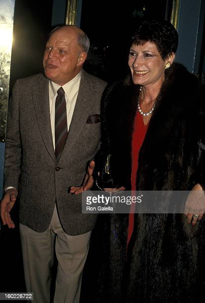 Comic Don Rickles and wife Barbara Sklar attend Ted Kennedy Paintings Benefit Party on November 20 1987 at Jimmy's Restaurant in Beverly Hills...