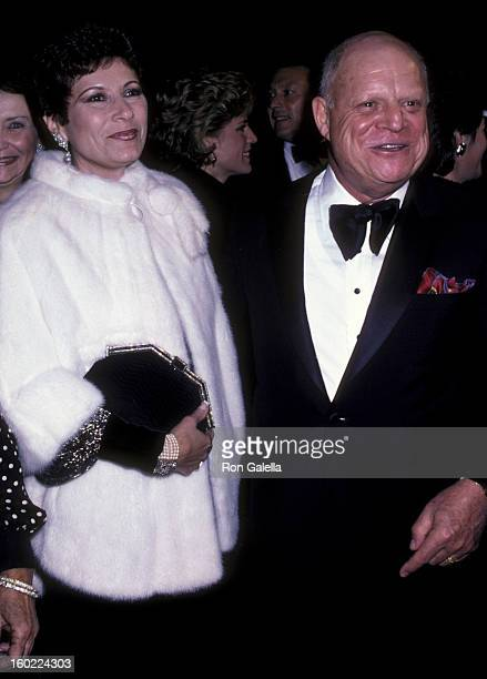 Comic Don Rickles and wife Barbara Sklar attend the premiere of 'Crimes Of The Heart' on December 3 1986 at the Plitt Theater in Century City...