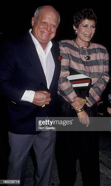 Comic Don Rickles and wife Barbara Sklar sighted on June 3 1987 at Spago Restaurant in West Hollywood California