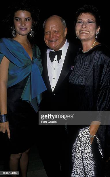 Comic Don Rickles wife Barbara Sklar and daughter attend Actor's Fund Benefit Gala on September 12 1987 at the Beverly Hills Hotel in Beverly Hills...