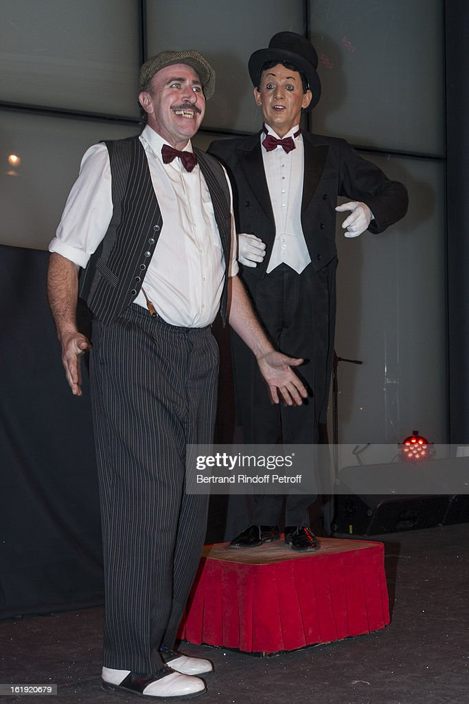 Comic duet 'The Rolling Dominos' perform during the 30th edition of 'La Nuit Des Neiges' Charity Gala on February 16, 2013 in Crans-Montana, Switzerland.