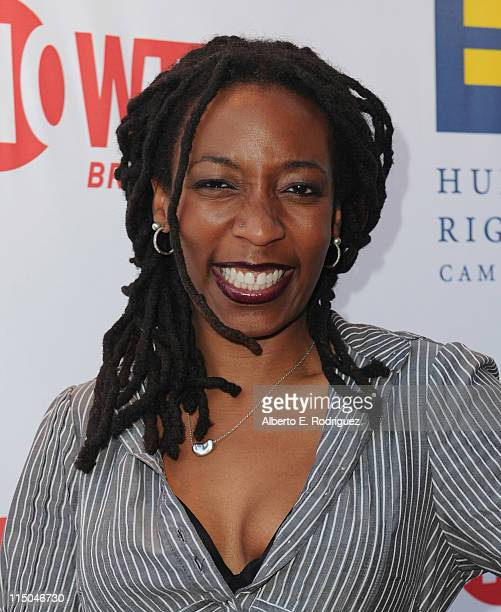 Comic Gloria Bigelow arrives to the premiere of Showtime's 'The Real L Word' on June 1 2011 in West Hollywood California