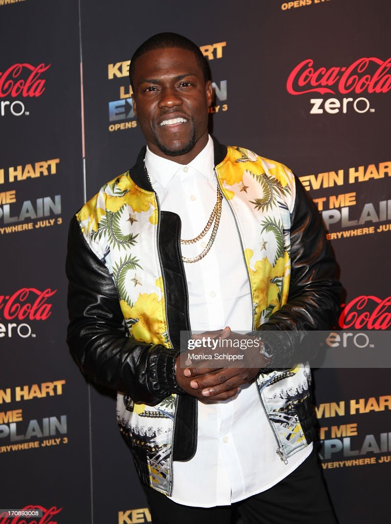 Comic <a gi-track='captionPersonalityLinkClicked' href=/galleries/search?phrase=Kevin+Hart+-+Acteur&family=editorial&specificpeople=4538838 ng-click='$event.stopPropagation()'>Kevin Hart</a> attends the '<a gi-track='captionPersonalityLinkClicked' href=/galleries/search?phrase=Kevin+Hart+-+Acteur&family=editorial&specificpeople=4538838 ng-click='$event.stopPropagation()'>Kevin Hart</a>:Let Me Explain' premiere at Regal Cinemas Union Square on June 19, 2013 in New York City.