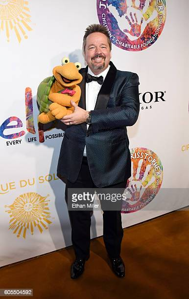 Comic ventriloquist and impressionist Terry Fator attends Criss Angel's HELP charity event at the Luxor Hotel and Casino benefiting pediatric cancer...