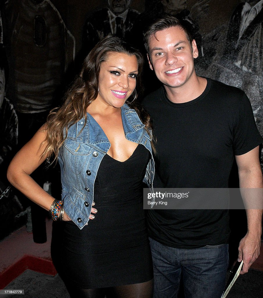 Comic/actress Luchana Gatica (L) and comic/actor Theo Von attend performances at The Hollywood Improv on June 28, 2013 in Los Angeles, California.
