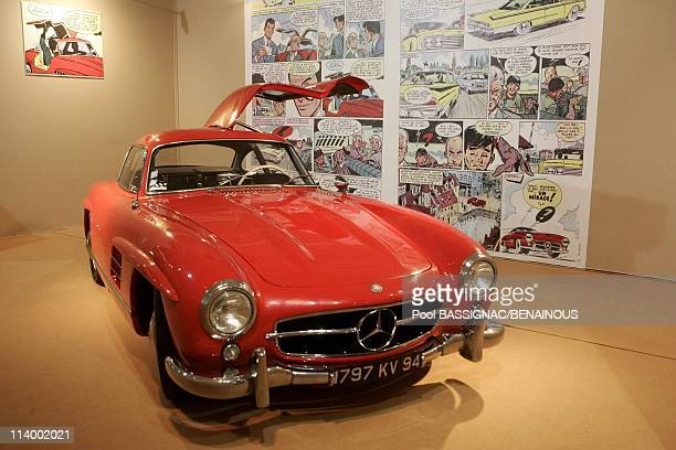 Comics car exposition at the Paris auto show 2004 In Paris France On September 23 2004Mercedes 300SL Gullwing