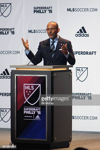 Comissioner Don Garber attends the 2015 MLS SuperDraft at the Pennsylvania Covention Center January 15 2015 in Philadelphia Pennsylvania