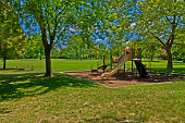 Comlara Park has many group gathering places that are complete with picnic tables, shelters, playground equipment and fire pits.