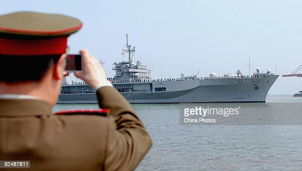 Command Ship Blue Ridge Of The U.S. Navy Visits China