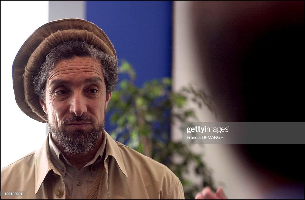 Commandant Massoud At The European Parliament On May 4Th, 2001 In Strasbourg, France.