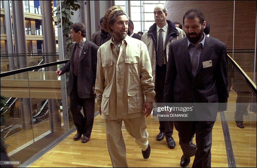 Commandant Massoud At The European Parliament On May 4Th, 2001 In Strasbourg, France. Exclusive.