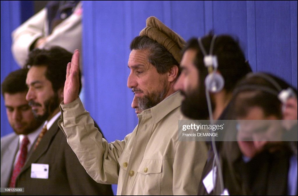 Commandant Massoud At The European Parliament On May 4Th, 2001 In Strasbourg, France. Exclusive