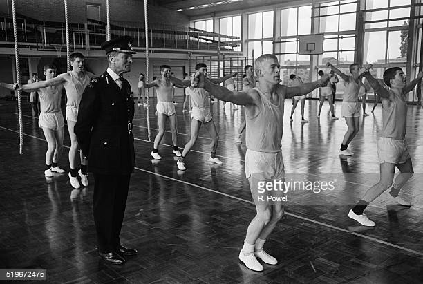 Commandant NAC Croft teaching a class of police cadets in training at Hendon Police College London 6th June 1968