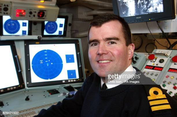 Commander Alex Lochrane Sonar 2087 Capabilities Manager in the Sound Room onboard HMS Westminster in Portsmouth The frigate is currently the only...
