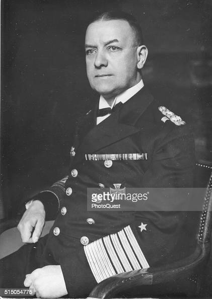 Commander of the German Navy Grand Admiral Erich Alber Raeder during World War II