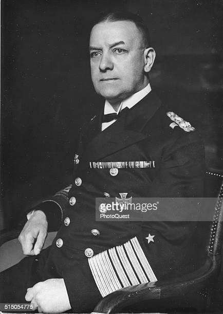 Commander of the German Navy Grand Admiral Erich Alber Raeder during World War II
