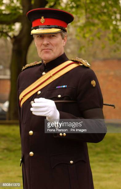 Commander of the Household Cavalry Colonel Hamon Massey during news interviews at Chelsea Barracks The Colonel will take up his duty as Silver Stick...