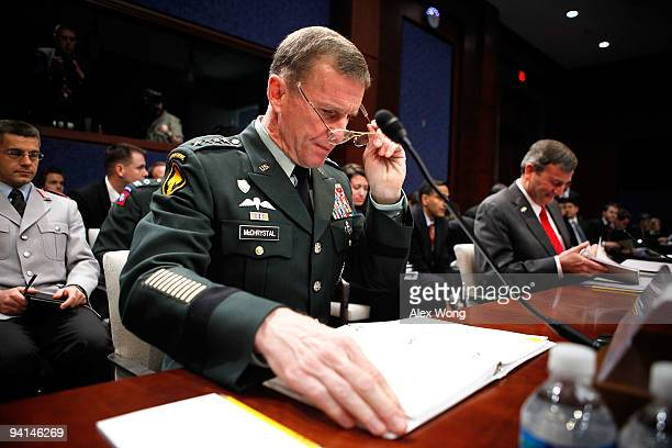 Commander of the International Security Assistance Force and Commander of US Forces Afghanistan Gen Stanley McChrystal and US Ambassador to...