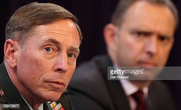Commander of the NATO International Security Assistance Force and US Forces in Afghanistan General David Petraeus and Ambassador Mark Sedwill NATO...