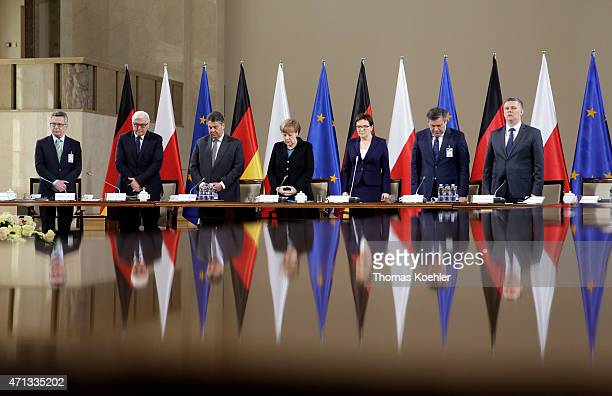 Commemoration for Polands former foreigen minister Wladyslaw Bartoszewski during a working session at 13th GermanPolish Government Consultations with...