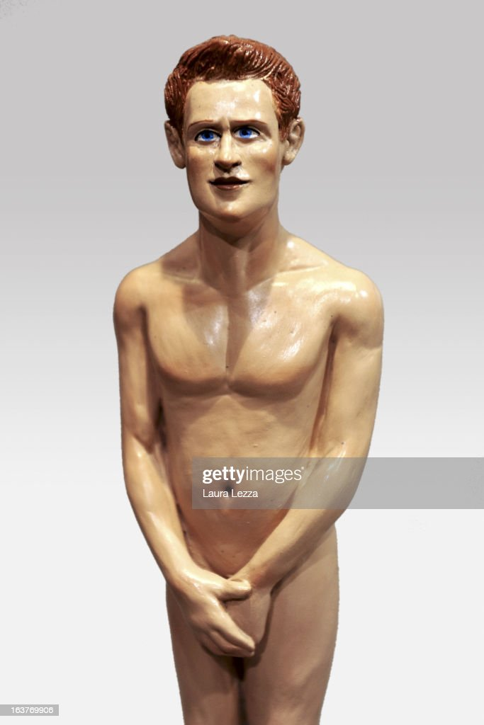 A commemorative figurine created by artisan Genny Di Virgilio depicting Prince Harry is displayed at San Gregorio Armeno on March 14, 2013 in Naples, Italy.