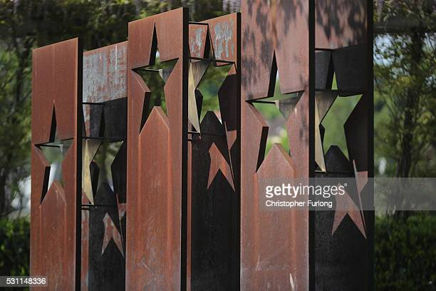 A commemorative sculpture at the dock where the 1985 European Schengen Agreement was signed on May 11 2016 in Schengen Luxembourg The Schengen...