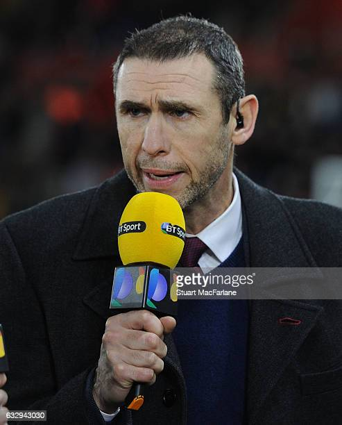 Commentator and ex player Martin Keown before the Emirates FA Cup Fourth Round match between Southampton and Arsenal at St Mary's Stadium on January...